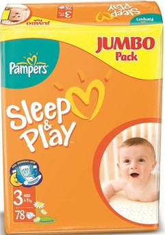 Подгузники Pampers Sleep and Play 4-9кг 78шт