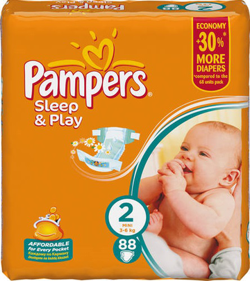 Подгузники Pampers Sleep and Play (Памперс Слип Энд Плей) 3-6 кг 88шт