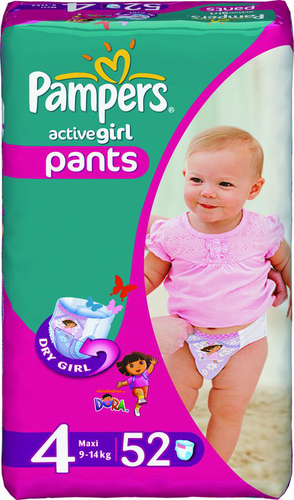 Трусики Pampers Active Girl 9-14кг 52шт
