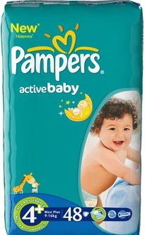 Подгузники Pampers Active Baby (Памперс Актив Беби) 9-16 кг 48шт