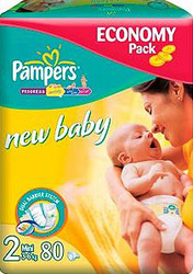 Подгузники Pampers New Baby 3-6 кг 80шт