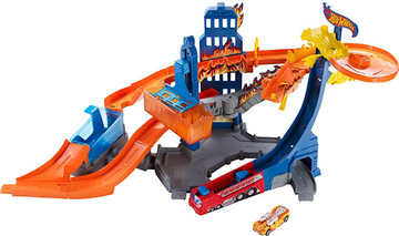 Игровой набор Hot wheels Color Shifters Пожар BGK05