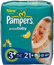 Подгузники Pampers Active Baby Midi Plus (5-10кг) №21