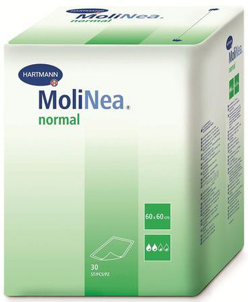 Пеленки Molinea Normal Paul Hartman 60x60 см, 30 шт