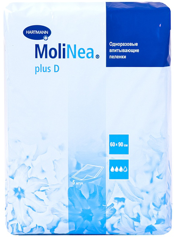 Пеленки Molinea Plus D Paul Hartman 60x90 см, 5 шт