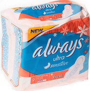 Прокладки Always Ultra Fresh Sensitive Normal Plus №9