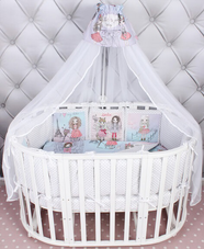 Комплект в кроватку AmaroBaby Little Crystal Premium 19 предметов