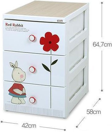 Комод Liko Baby Red Rabbit 3 ящика