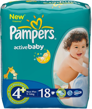 Подгузники Pampers Active Baby (Памперс Актив Беби) 9-16 кг 18шт