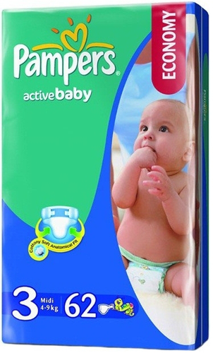 Подгузники Pampers Active Baby 4-9 кг 62шт