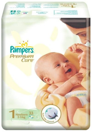 Подгузники Pampers Premium Care 2-5 кг 33шт