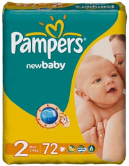 Подгузники Pampers New Baby (Памперс Нью Беби) 3-6 кг 72шт