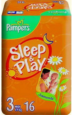 Подгузники Pampers Sleep and Play (Памперс Слип Энд Плей) 4-9кг 16шт
