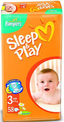 Подгузники Pampers Sleep and Play (Памперс Слип Энд Плей) 4-9 кг 58шт