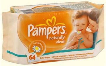 Салфетки Pampers Naturally Clean 64шт