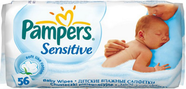 Салфетки Pampers Sensitive (Памперс Сенситив) 56шт