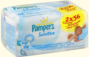 Салфетки Pampers Sensitive Duo (Памперс Сенситив Дуо) 112шт