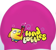 Шапочка для плавания Mad Buble Junior Printed Silicone Junior Mad Wave