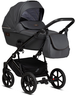 Коляска Tutis Viva Life кожа 2020 2 в 1 087 Shadow Grey