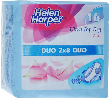 Прокладки Helen Harper Wings Ultra Top Dry Super 16 шт